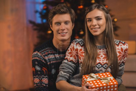 couple on christmas eve