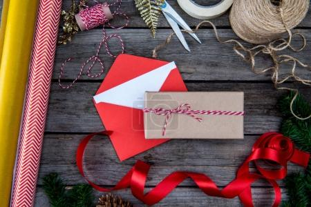 Christmas gift and envelope