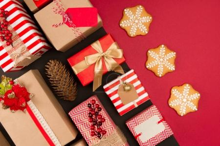 christmas presents and cookies