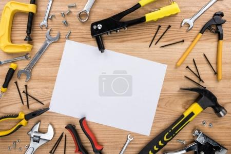 reparement tools and paper