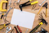 reparement tools and paper