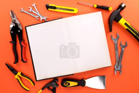 open notebook and tools