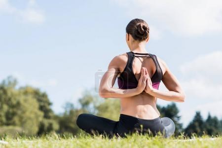 yogini in Reverse Prayer Pose