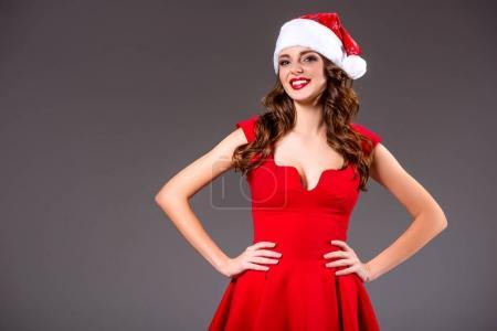 sexy smiling woman on christmas