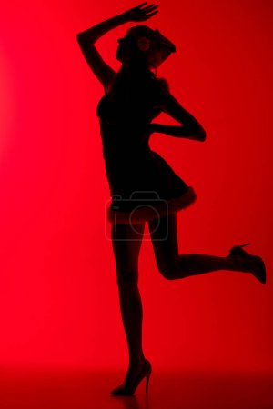 silhouette of sexy santa girl