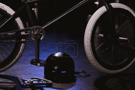 bmx bicycle and helmet
