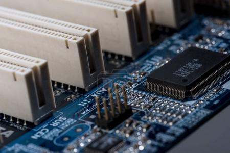 Photo for Close up view of computer motherboard ports - Royalty Free Image