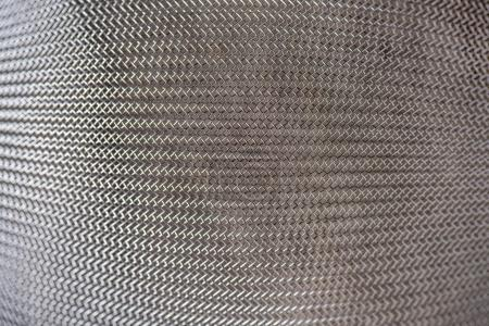 close up view of metal sieve texture