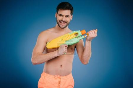 Man with water gun
