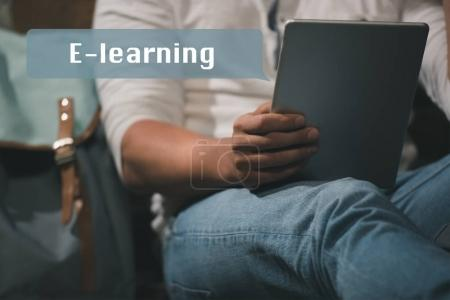 E-learning on digital tablet