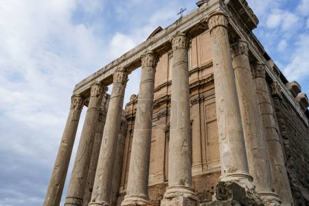 Photo for Low angle view of ancient columns in rome - Royalty Free Image