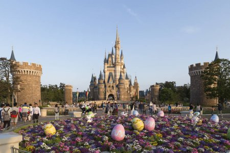 Cinderella's castle with Easter decoration at the ...