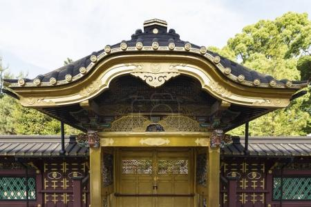 Karamon gate at the golden Toshogu shrine in Tokyo Japan