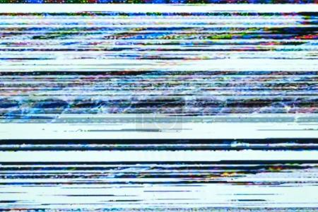 Photo for Noise Interference TV Bad Signal Screen Television - Royalty Free Image