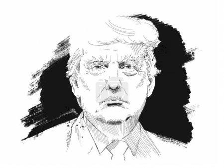 Photo pour Moscou, Russie- 1er février 2018 : Donald John Trump. Homme d'affaires américain, acteur, auteur, homme politique et président élu des États-Unis . - image libre de droit