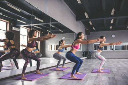 Group yoga training