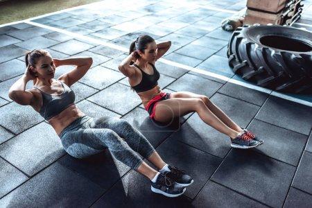 Sporty women in gym