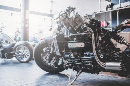 Modern motorcycle shop