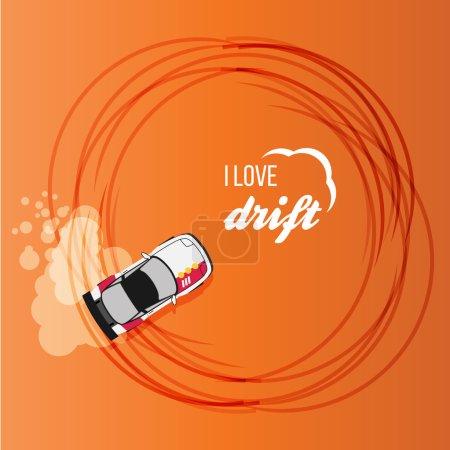 Drifting race car