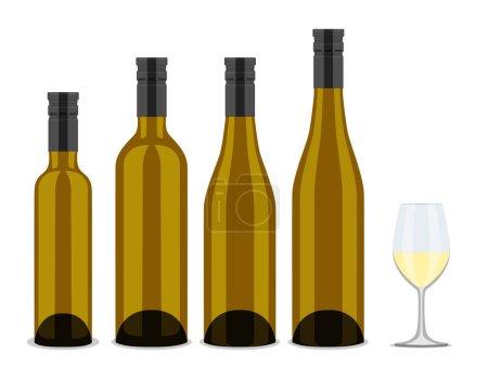 set of bottles of wine