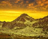 Mountain Strbsky Stit at sunset, Slovakia