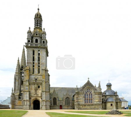 The parish church in Pleyben, Northen France.