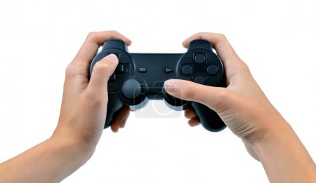 Game controller in hand