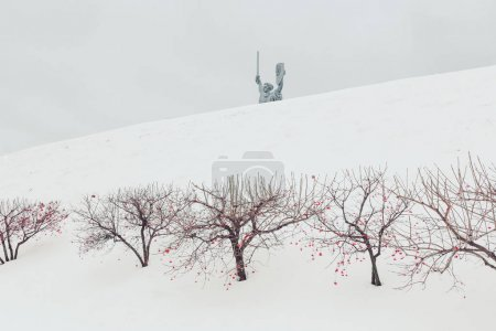 Monument of World war 2 in winter