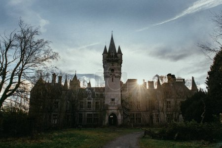 Landscape with old abandoned castle