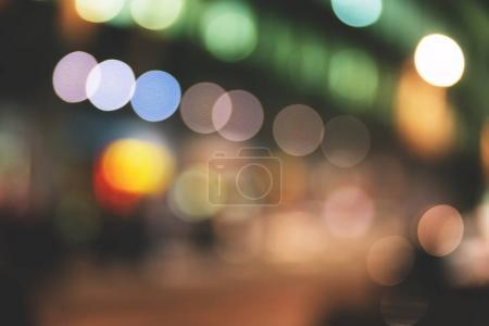 Blurred city street lights
