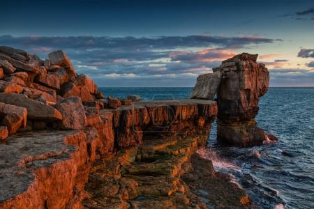 Dramatic rocky coastline in Portland