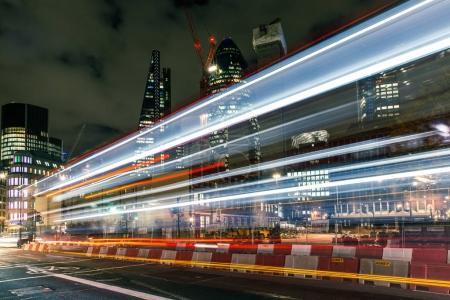 Traffic light trails in London