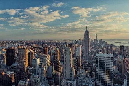 Photo pour Vue imprenable sur la ville de New York. Moderne gratte-ciel de Manhattan à New York City - image libre de droit