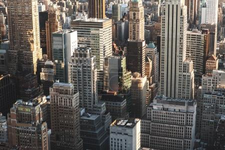 Photo for Iconic view of the New York skyline. Skyscraper buildings in Manhattan New York City - Royalty Free Image