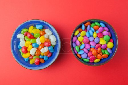 candy sweets in bowls