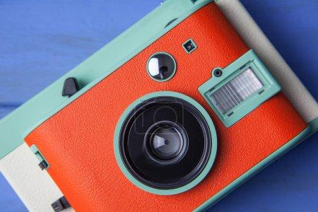 orange retro camera