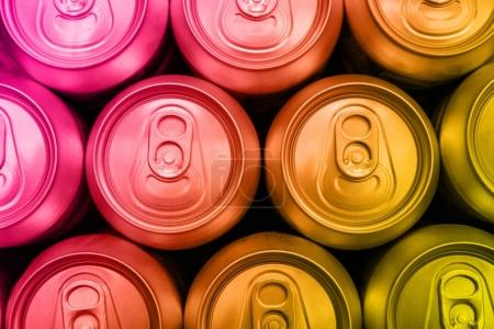 soda drinks cans overhead