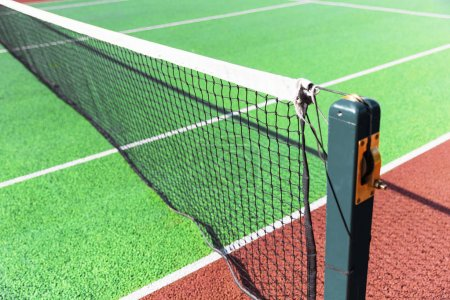 court with net in sunlight