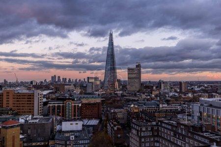 rooftops on modern London skyline