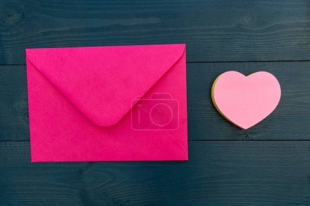 Love letter in pink envelope