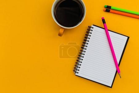 Minimal stationery education notebook