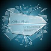 Broken glass label vector design