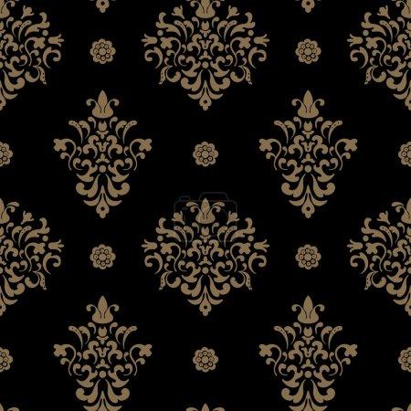 Illustration pour Modèle royal sans couture baroque. Fond décoratif vintage design. Illustration vectorielle - image libre de droit