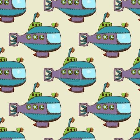 Submarine pattern seamless