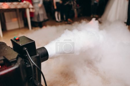 Photo for Cropped view of smoke generator working in restaurant - Royalty Free Image