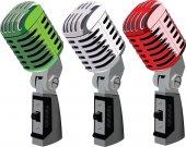 Italian tricolor microphones