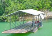 Manual hand cranked ferry for the Xunantunich Archaeological Reserve