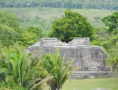 The Mayan ancient ruins at the Xunantunich Archaeological Park in Belize