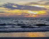 Reflection of a Florida sunset on the Gulf of Mexico at Indian Rocks Beach