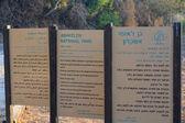 Sign at ashkelon national park